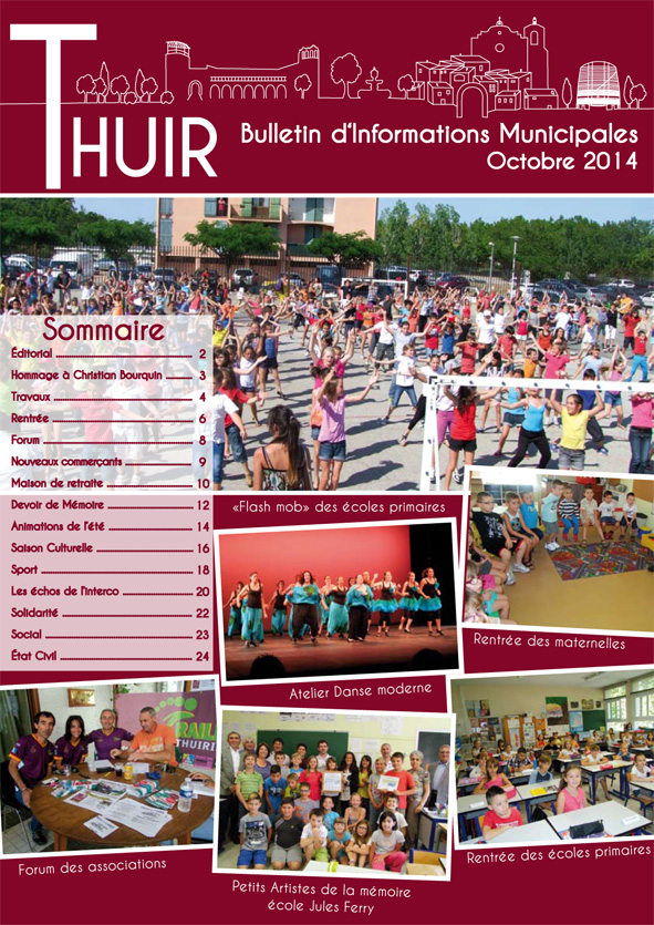 Couverture du Bulletin d'informations municipales de Thuir / Septembre 2014