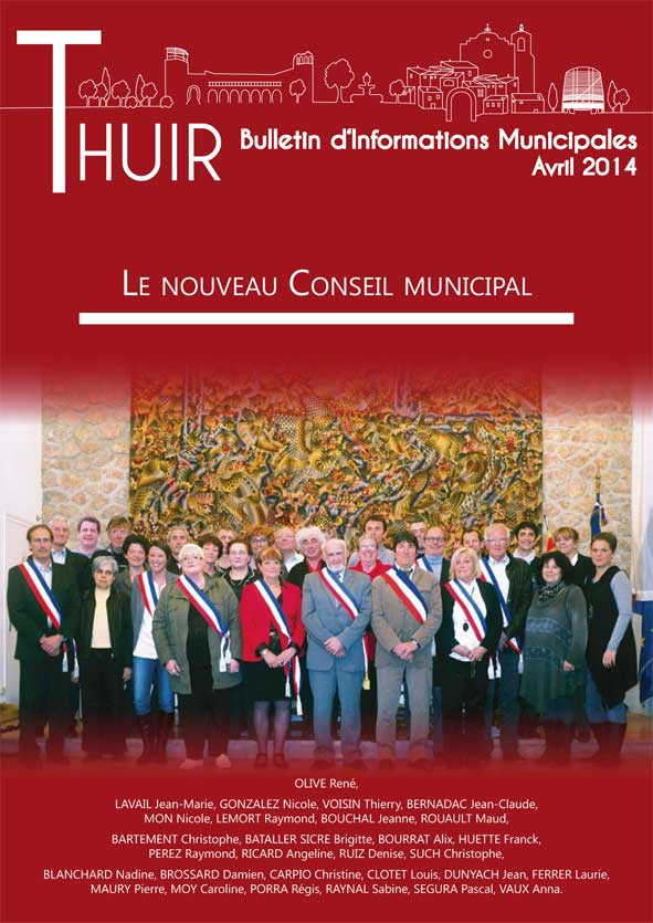 Couverture du Bulletin d'informations municipales de Thuir / Avril 2014